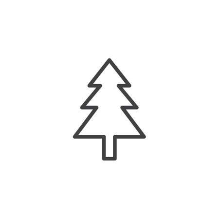 Christmas tree outline icon. linear style sign for mobile concept and web design. Spruce tree simple line vector icon. Symbol, logo illustration. Pixel perfect vector graphics  イラスト・ベクター素材