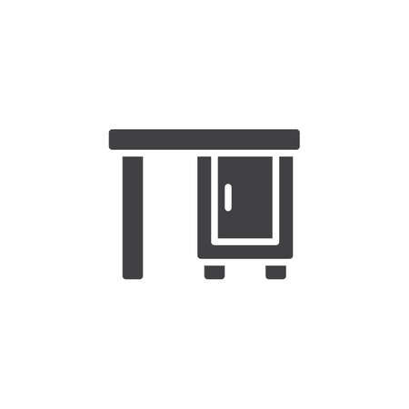 Furniture cabinet table vector icon. filled flat sign for mobile concept and web design. Furniture cabinet table simple solid icon. Symbol, logo illustration. Pixel perfect vector graphics