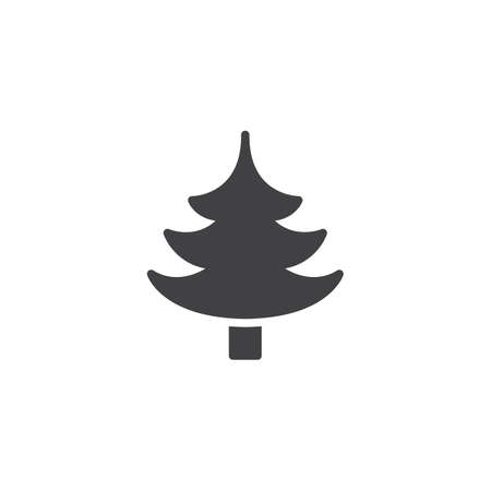 Spruce tree vector icon. filled flat sign for mobile concept and web design. Coniferous forest simple solid icon. Symbol, logo illustration. Pixel perfect vector graphics
