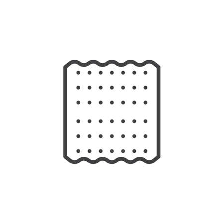 Jewish Matzah outline icon. linear style sign for mobile concept and web design. Passover bread simple line vector icon. Pesach symbol, logo illustration. Pixel perfect vector graphics Illustration
