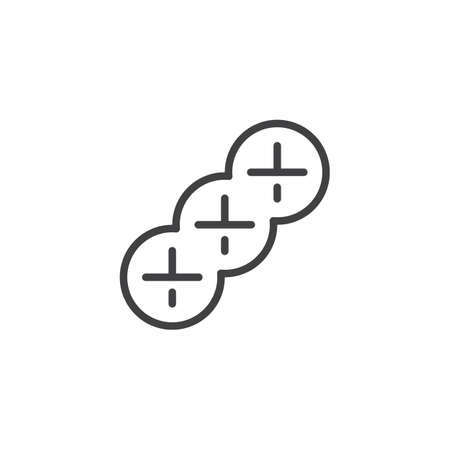 Braided bread outline icon. linear style sign for mobile concept and web design. Jewish Challah bread simple line vector icon. Symbol, logo illustration. Pixel perfect vector graphics