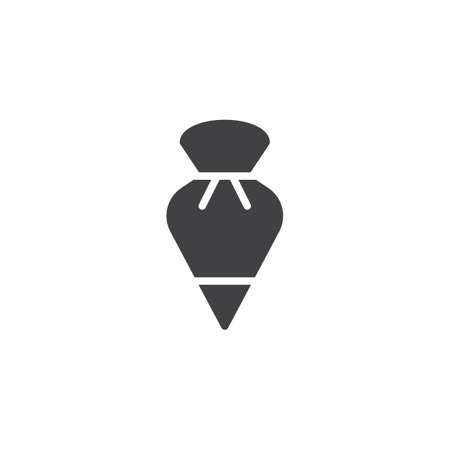 Pastry bag vector icon. filled flat sign for mobile concept and web design. Icing bag with nozzle simple solid icon. Symbol, logo illustration. Pixel perfect vector graphics