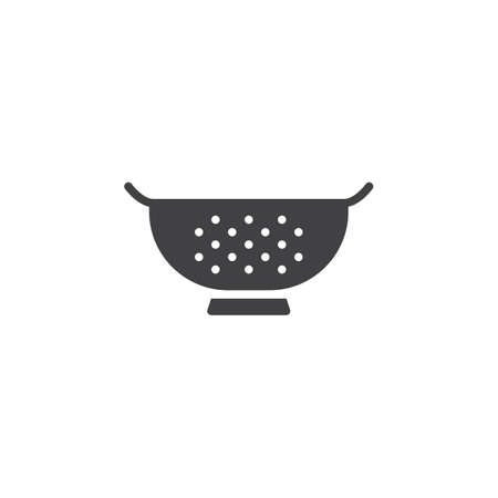 Kitchen strainer vector icon. filled flat sign for mobile concept and web design. Sieve simple solid icon. Symbol, logo illustration. Pixel perfect vector graphics