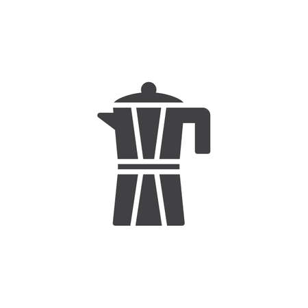 Coffee pot vector icon. filled flat sign for mobile concept and web design. Geyser Coffee Maker solid icon. Symbol, logo illustration. Pixel perfect vector graphics