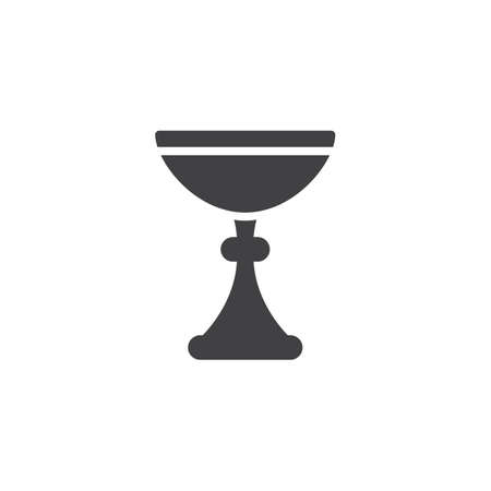 Kiddush wine cup vector icon. filled flat sign for mobile concept and web design. Jewish Goblet simple solid icon. Symbol, logo illustration. Pixel perfect vector graphics Illustration