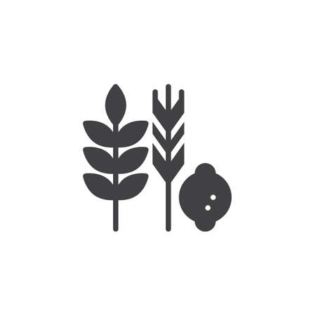 Hebrew Species vector icon. filled flat sign for mobile concept and web design. Jewish holiday food simple solid icon. Symbol, logo illustration. Pixel perfect vector graphics Illustration