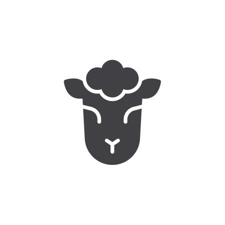 Lamb of God vector icon. filled flat sign for mobile concept and web design. Jewish sheep simple solid icon. Symbol, logo illustration. Pixel perfect vector graphics