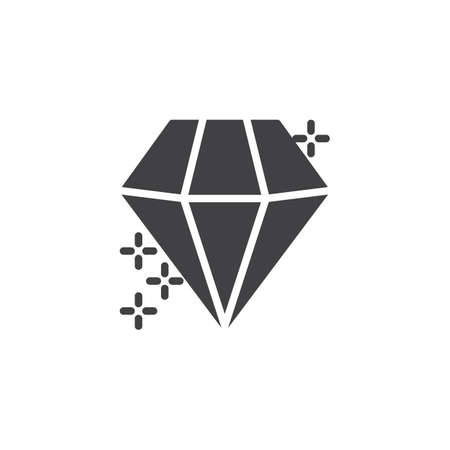 Diamond crystal vector icon. filled flat sign for mobile concept and web design. Precious gemstone simple solid icon. Symbol, logo illustration. Pixel perfect vector graphics
