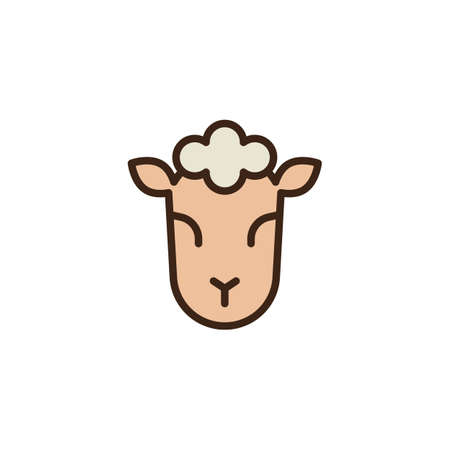 Lamb of God filled outline icon, line vector sign, linear colorful pictogram isolated on white. Jewish sheep symbol, logo illustration. Pixel perfect vector graphics Stock Photo