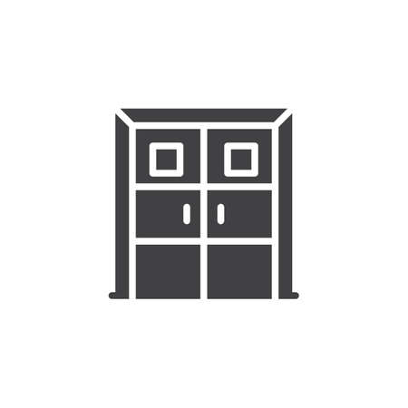 Laboratory doors vector icon. filled flat sign for mobile concept and web design. Double door simple solid icon. Symbol, logo illustration. Pixel perfect vector graphics