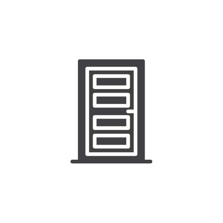 Wood door vector icon. filled flat sign for mobile concept and web design. Front door simple solid icon. Symbol, logo illustration. Pixel perfect vector graphics