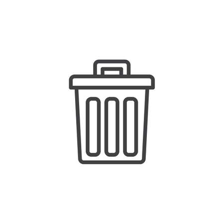 Trash can outline icon. linear style sign for mobile concept and web design. Recycle bin simple line vector icon. Symbol, logo illustration. Pixel perfect vector graphics Zdjęcie Seryjne