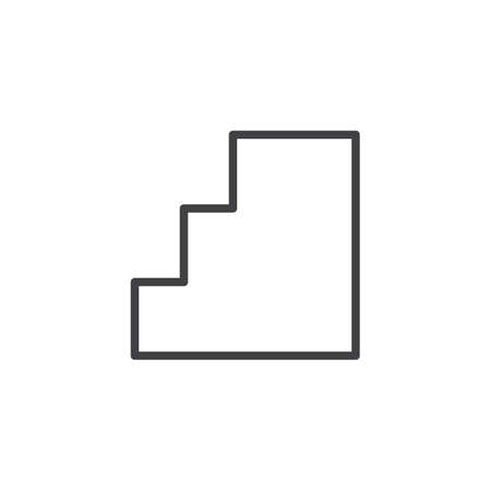 Step Stairs outline icon. linear style sign for mobile concept and web design. Ladder simple line vector icon. Symbol, logo illustration. Pixel perfect vector graphics