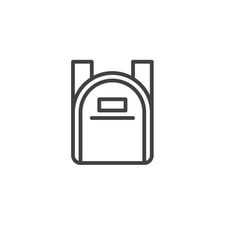School Backpack outline icon. linear style sign for mobile concept and web design. School Bag simple line vector icon. Symbol, logo illustration. Pixel perfect vector graphics