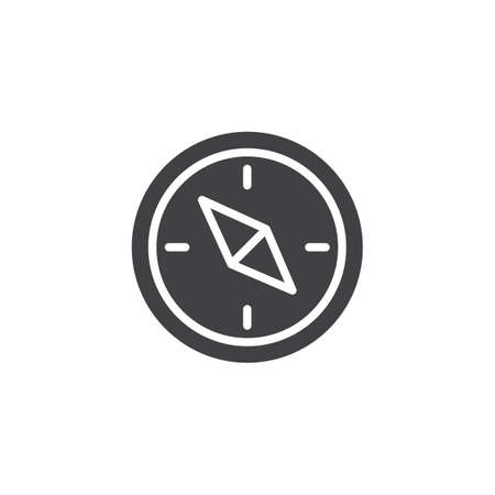Navigation compass vector icon. filled flat sign for mobile concept and web design. Compass simple solid icon. Symbol, logo illustration. Pixel perfect vector graphics Иллюстрация