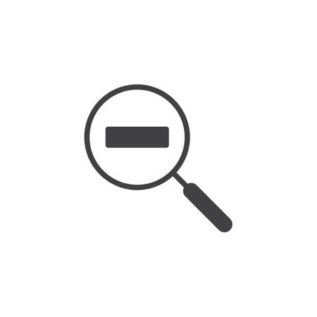 Zoom out Magnification vector icon. filled flat sign for mobile concept and web design. Magnifier with minus simple solid icon. Symbol, logo illustration. Pixel perfect vector graphics