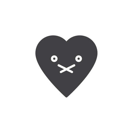 Nauseated Face emoticon vector icon. filled flat sign for mobile concept and web design. nauseated heart face character emoji solid icon. Symbol, logo illustration. Pixel perfect vector graphics Иллюстрация