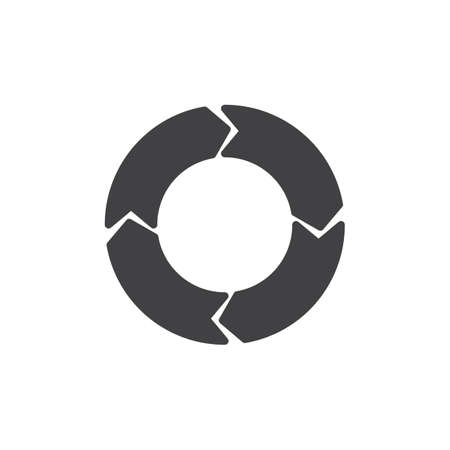 Circular arrows vector icon. filled flat sign for mobile concept and web design. Arrows circle simple solid icon. Symbol, logo illustration. Pixel perfect vector graphics