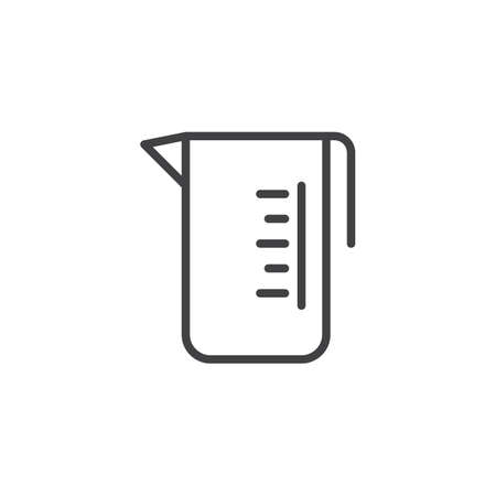 Measuring glass line icon. linear style sign for mobile concept and web design. Measuring cup outline vector icon. Symbol, logo illustration. Pixel perfect vector graphics Иллюстрация
