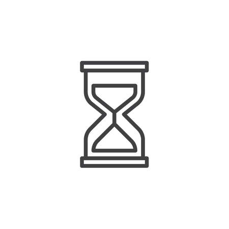 Hourglass line icon. linear style sign for mobile concept and web design. Sand clock outline vector icon. Time symbol, logo illustration. Pixel perfect vector graphics