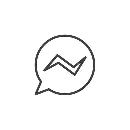 Messenger application line icon. linear style sign for mobile concept and web design. Speech bubble message outline vector icon. Symbol, logo illustration. Pixel perfect vector graphics Logos