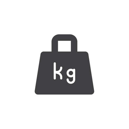 Weight kilogram vector icon. filled flat sign for mobile concept and web design. Weight simple solid icon. Symbol, logo illustration. Pixel perfect vector graphics Illustration