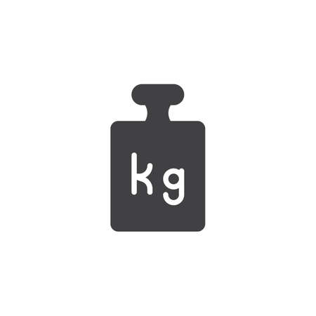 Calibration weight vector icon. filled flat sign for mobile concept and web design. Weight kilogram simple solid icon. Symbol, logo illustration. Pixel perfect vector graphics