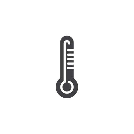Thermometer vector icon. filled flat sign for mobile concept and web design. Thermometer temperature scale simple solid icon. Symbol, logo illustration. Pixel perfect vector graphics