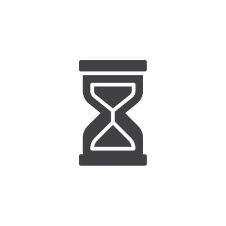 Hourglass vector icon. filled flat sign for mobile concept and web design. Sand clock simple solid icon. Time symbol, logo illustration. Pixel perfect vector graphics Иллюстрация