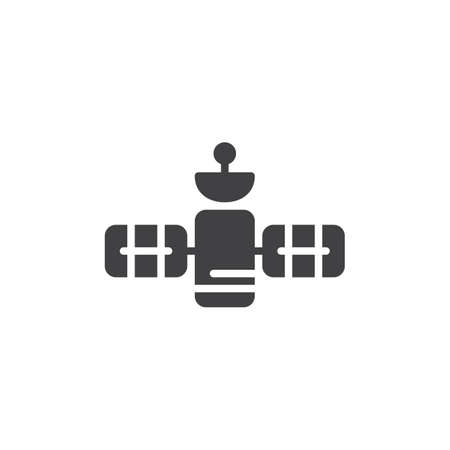 GPS satellite vector icon. filled flat sign for mobile concept and web design. Space station simple solid icon. Symbol, logo illustration. Pixel perfect vector graphics