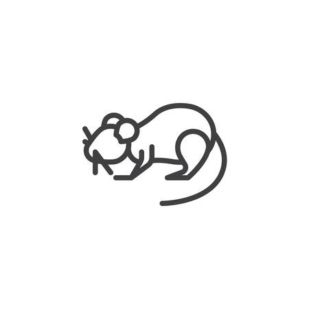 Rat pests line icon. linear style sign for mobile concept and web design. mouse animal outline vector icon. Symbol, logo illustration. Pixel perfect vector graphics