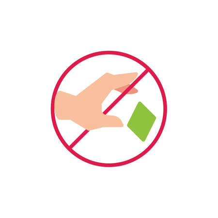 Do not throw trash flat icon, vector sign, colorful pictogram isolated on white. Do not litter prohibition sign symbol, logo illustration. Flat style design