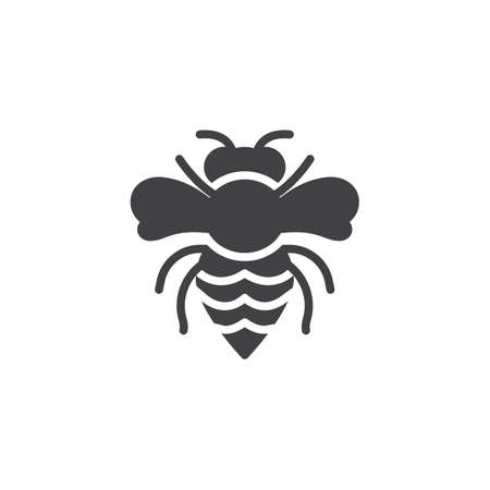 Wasp pests vector icon. filled flat sign for mobile concept and web design. Wasp insects simple solid icon.  Bee Symbol, logo illustration. Pixel perfect vector graphics