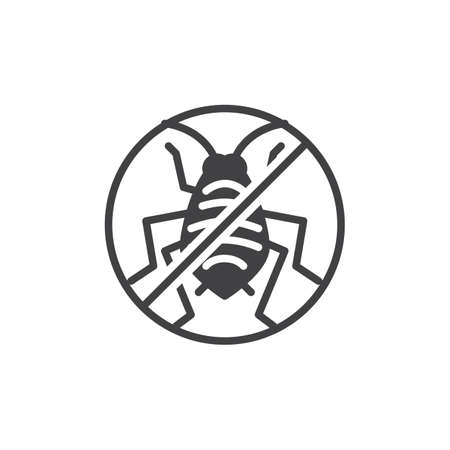 No aphid pests vector icon. filled flat sign for mobile concept and web design. Stop aphid insects simple solid icon. Symbol, logo illustration. Pixel perfect vector graphics