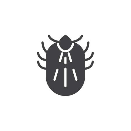 Mite pests vector icon. filled flat sign for mobile concept and web design. Mite insects simple solid icon. Symbol, logo illustration. Pixel perfect vector graphics Illustration
