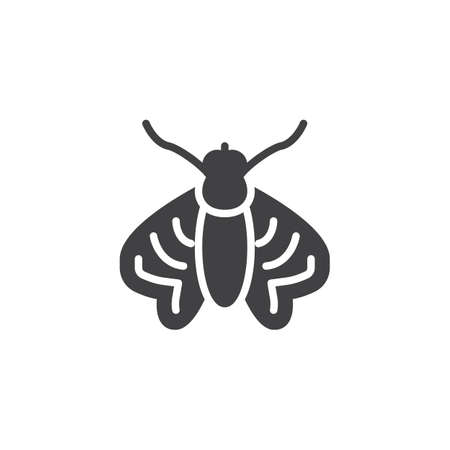 Moth pests vector icon. filled flat sign for mobile concept and web design. Moth insects simple solid icon. Symbol, logo illustration. Pixel perfect vector graphics