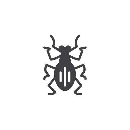 Weevil pests vector icon. filled flat sign for mobile concept and web design. Weevil insects simple solid icon. Symbol, logo illustration. Pixel perfect vector graphics