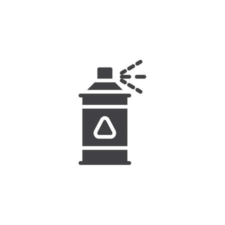 Insect repellent spray vector icon. filled flat sign for mobile concept and web design. Pests repellent sprayer simple solid icon. Symbol, logo illustration. Pixel perfect vector graphics