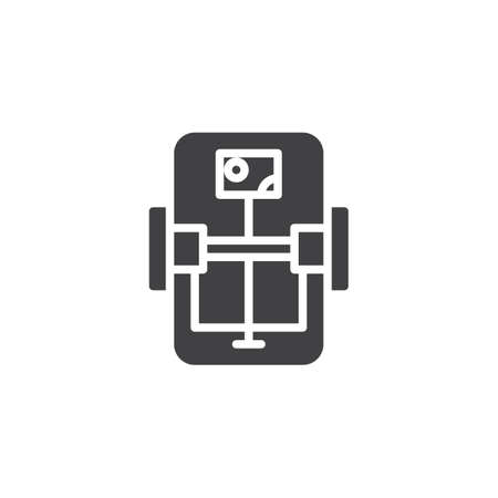 Rat trap top view vector icon. filled flat sign for mobile concept and web design. Rat trap view from above simple solid icon. Symbol, logo illustration. Pixel perfect vector graphics Illustration