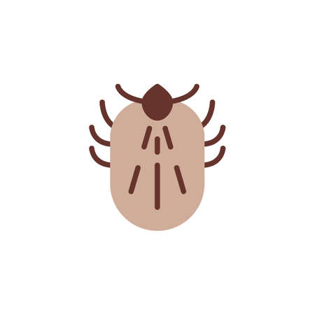 Mite insect flat icon, vector sign, colorful pictogram isolated on white. Mite pest symbol, logo illustration. Flat style design Illustration