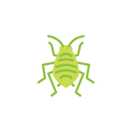 Bedbug insect flat icon, vector sign, colorful pictogram isolated on white. Aphid woodlouse pest symbol, logo illustration. Flat style design
