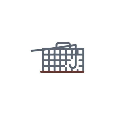 Pest control trap flat icon, vector sign, colorful pictogram isolated on white. Rat trap box symbol, logo illustration. Flat style design Standard-Bild - 116444640