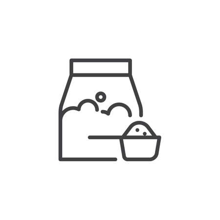 Washing powder line icon. linear style sign for mobile concept and web design. Allergic product outline vector icon. Symbol, logo illustration. Pixel perfect vector graphics