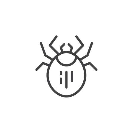 Mite pest line icon. linear style sign for mobile concept and web design. Dust Mite Insect outline vector icon. Symbol, logo illustration. Pixel perfect vector graphics