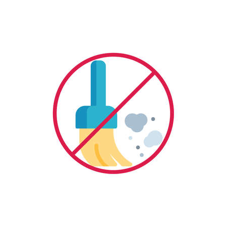 No dust prohibition flat icon, vector sign, colorful pictogram isolated on white. Stop dust, allergen symbol, logo illustration. Flat style design Logo