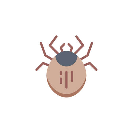 Mite pest flat icon, vector sign, colorful pictogram isolated on white. Dust Mite Insect symbol, logo illustration. Flat style design Logo