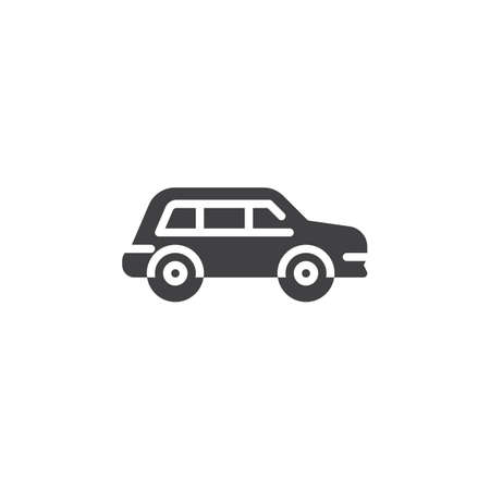 Crossover car vector icon. filled flat sign for mobile concept and web design. Transportation car simple glyph icon. Symbol, logo illustration. Pixel perfect vector graphics