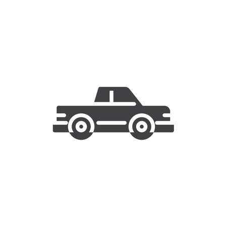 Pickup truck vector icon. filled flat sign for mobile concept and web design. Pickup car simple glyph icon. Symbol, logo illustration. Pixel perfect vector graphics