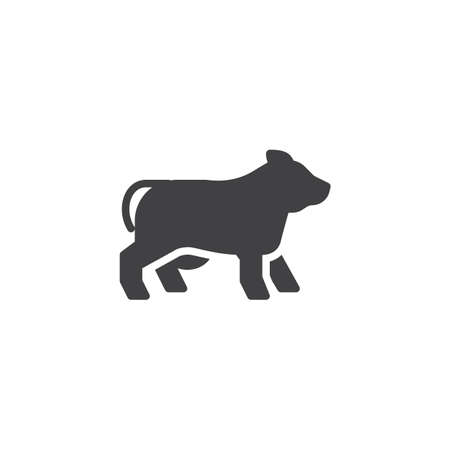 Cow side view vector icon. filled flat sign for mobile concept and web design. dairy cow glyph icon. Farm animal symbol, logo illustration. Pixel perfect vector graphics