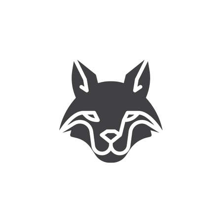 Fox head vector icon. filled flat sign for mobile concept and web design. fox animal glyph icon. Wild animals symbol, logo illustration. Pixel perfect vector graphics